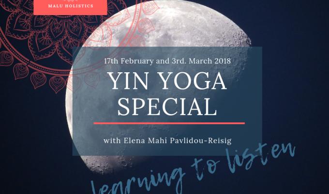 Yin Yoga Special classes | learning tolisten